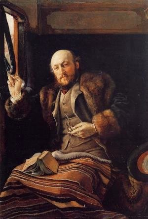Gentleman in a Railway Carriage 1872