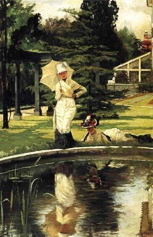 James Jacques Joseph Tissot - Jacques In An English Garden