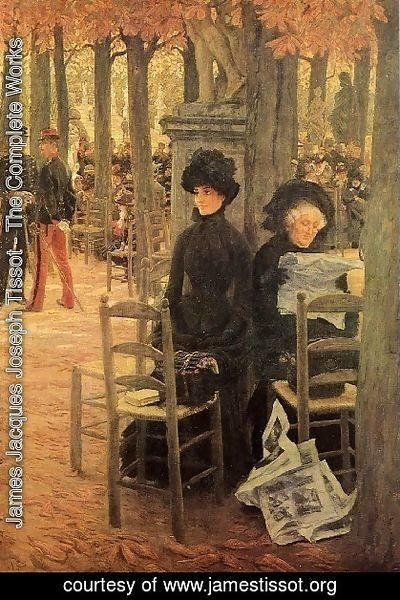 James Jacques Joseph Tissot - Jacques Without A Dowry Aka Sunday In The Luxembourg Gardens