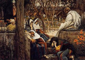 James Jacques Joseph Tissot - Jesus At Bethany