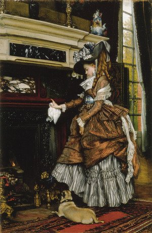 James Jacques Joseph Tissot - La Cheminee