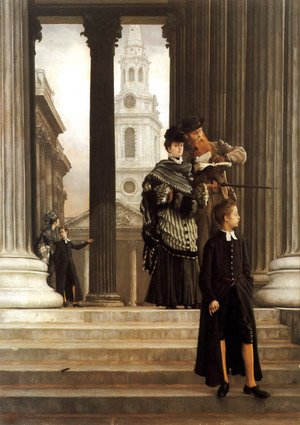 James Jacques Joseph Tissot - London Visitors  1874