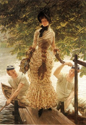 James Jacques Joseph Tissot - On The Thames