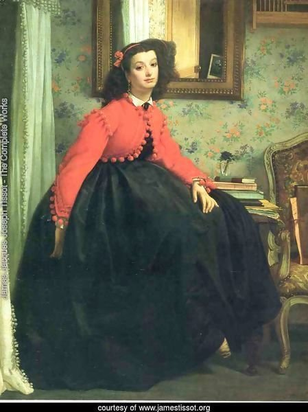 Portrait of Mademoiselle L.L. (Young Woman in a Red Jacket)  1864