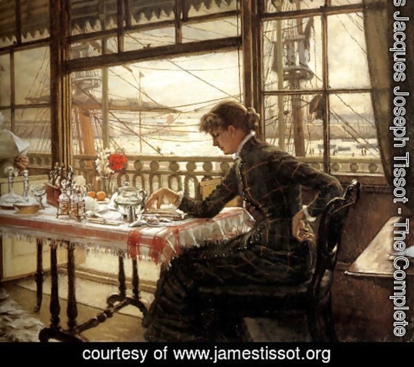James Jacques Joseph Tissot - Room Overlooking The Harbour