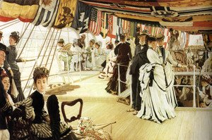James Jacques Joseph Tissot - The Ball On Shipboard