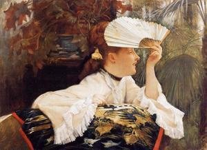 James Jacques Joseph Tissot - The Fan