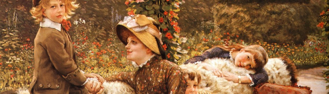 James Jacques Joseph Tissot - The Garden Bench
