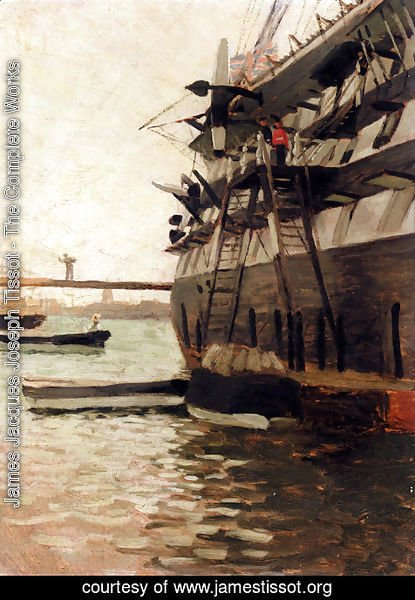 James Jacques Joseph Tissot - The Hull Of A Battle Ship