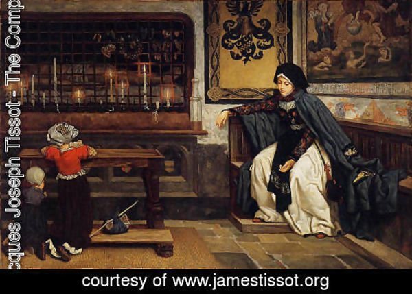 James Jacques Joseph Tissot - Marguerite In Church