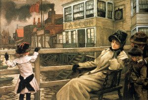 James Jacques Joseph Tissot - Waiting For The Ferry 1878