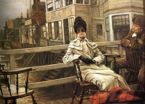 James Jacques Joseph Tissot - Waiting For The Ferry 2