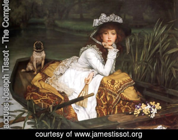 James Jacques Joseph Tissot - Young Lady In A Boat